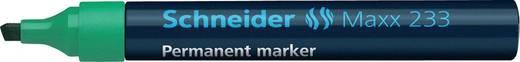 Schneider Permanent-Marker 233/123304, grün, Gehäuse blau, 1+5mm