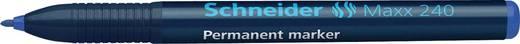 Schneider Permanent-Marker 240/124003, blau, Gehäuse blau, 1-2mm