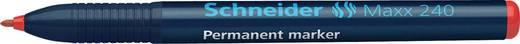 Schneider Permanent-Marker 240/124002, rot, Gehäuse blau, 1-2mm
