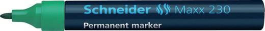 Schneider Permanent-Marker 230/123004, grün, Gehäuse blau, 1-3mm