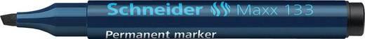Schneider Permanent-Marker 133/113301, schwarz, Gehäuse blau, 1+4mm