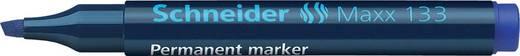 Schneider Permanent-Marker 133/113303, blau, Gehäuse blau, 1+4mm