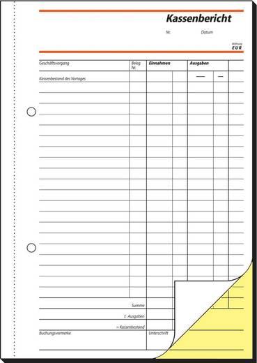 sigel Kassenbericht/Bestandsrechnung/SD007, weiß+gelb, SD, A5hoch, Inh.2x40Blatt