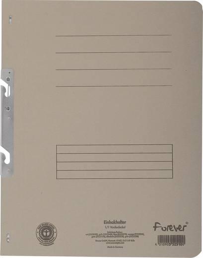 EXACOMPTA Einhakhefter mit vollem Deckel/352510B, grau, A4, 250g/qm