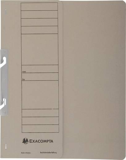EXACOMPTA Einhakhefter mit halbem Deckel/352610B, grau, A4, 250g/qm