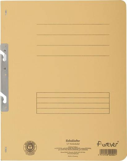 EXACOMPTA Einhakhefter mit vollem Deckel/352504B, gelb, A4, 250g/qm