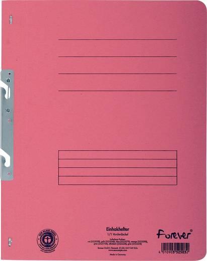 EXACOMPTA Einhakhefter mit vollem Deckel/352503B, rot, A4, 250g/qm