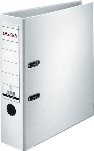 Falken Ordner FALKEN PP-Color DIN A4 Rückenbreite: 80 mm Weiß 2 Bügel 9984030