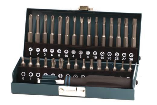 Bit-Set 31teilig Wolfcraft 1386000 Kreuzschlitz Phillips, Innen-Vierkant (Robertson), TORX BO, Innen-Sechskant BO, Tri-Wing, TORQ, Spanner