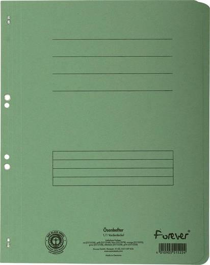 EXACOMPTA Ösenhefter/351525B, grün, A4, 250g/qm