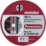 Set de disques à tronçonner en inox Metabo 616359000 Diamètre 125 mm 10 pc(s)