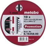 Set de disques à tronçonner en inox Metabo 616358000 Diamètre 115 mm 10 pc(s)