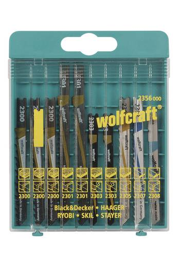 10 Stichsägeblätter Wolfcraft 2356000 Holz, Kunststoff, Bleche, NE-Metalle 10 St.
