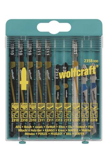 10 Stichsägeblätter Wolfcraft 2358000 Holz, Kunststoff, Bleche, NE-Metalle 10 St.