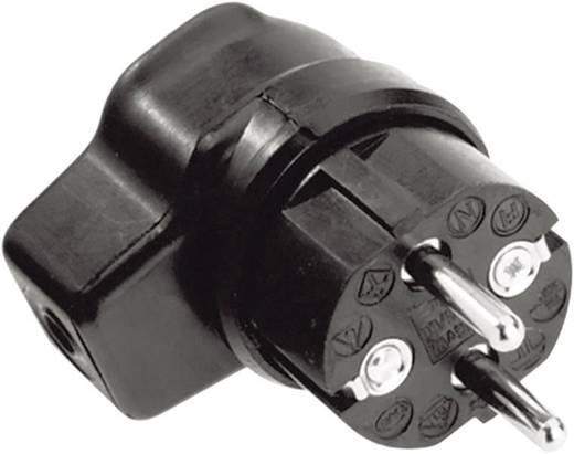 Schutzkontakt-Winkelstecker Gummi 250 V Schwarz IP44 Kalthoff 919171