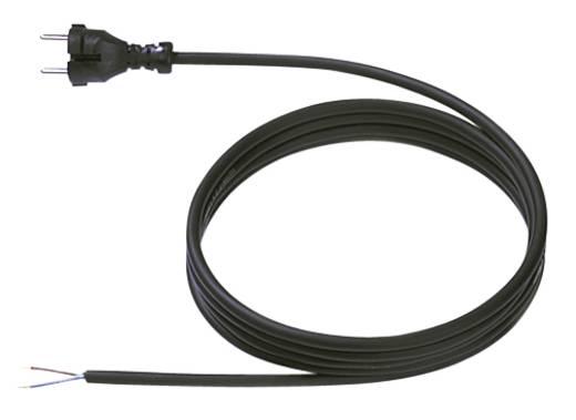 Strom Anschlusskabel [ Konturen-Stecker - Kabel, offenes Ende] Schwarz 5 m Bachmann Electric 246176