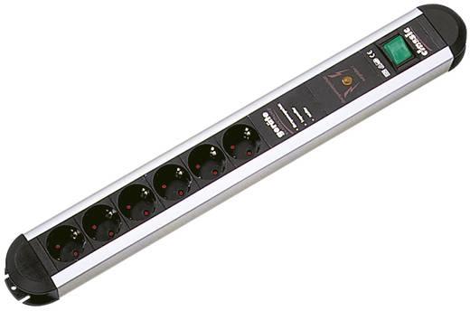 Bachmann 331071 Überspannungsschutz-Steckdosenleiste 6fach Aluminium, Schwarz Schutzkontakt