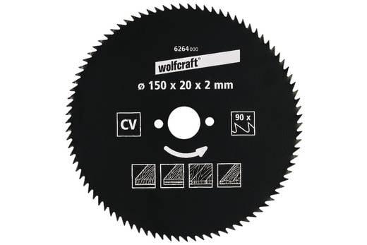 CV Kreissägeblatt 130 x 16 mm Zähneanzahl: 80 Wolfcraft 6256000 1 St.