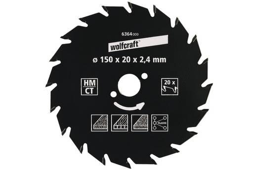 Hartmetall Kreissägeblatt 150 x 20 mm Zähneanzahl: 20 Wolfcraft 6364000 1 St.