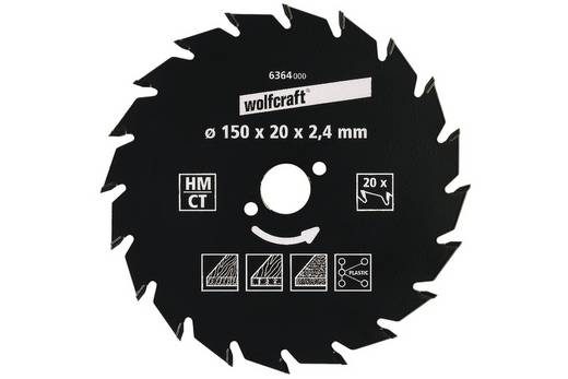 Hartmetall Kreissägeblatt 200 x 30 mm Zähneanzahl: 30 Wolfcraft 6379000 1 St.