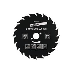 Wolfcraft 6355000 Průměr: 127 mm Počet zubů (na palec): 18