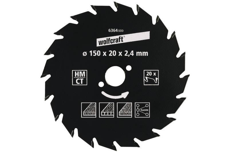 Wolfcraft 6730000 1 Kreissägeblatt HM 18 Zähne ø 130 mm