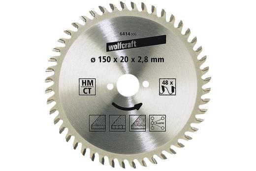 Hartmetall Kreissägeblatt 160 x 20 x 2.8 mm Zähneanzahl: 48 Wolfcraft 6418000 1 St.
