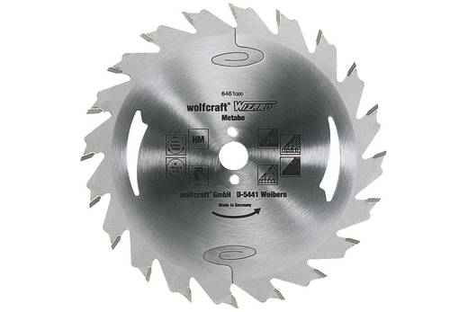 Hartmetall Kreissägeblatt 180 x 20 mm Zähneanzahl: 28 Wolfcraft 6472000 1 St.