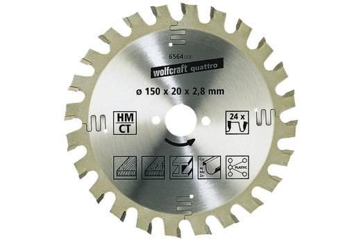 Kreissägeblatt Wolfcraft 6567000 Durchmesser: 160 mm Zähneanzahl: 24 Sägeblatt