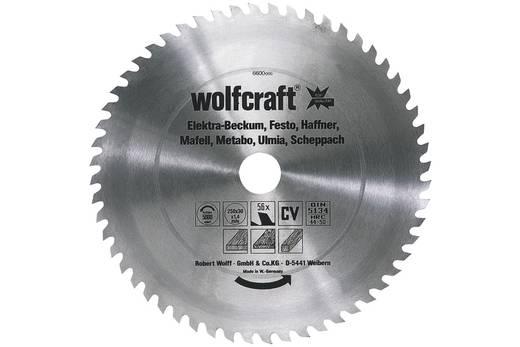 CV Kreissägeblatt 250 x 30 mm Zähneanzahl: 56 Wolfcraft 6600000 1 St.