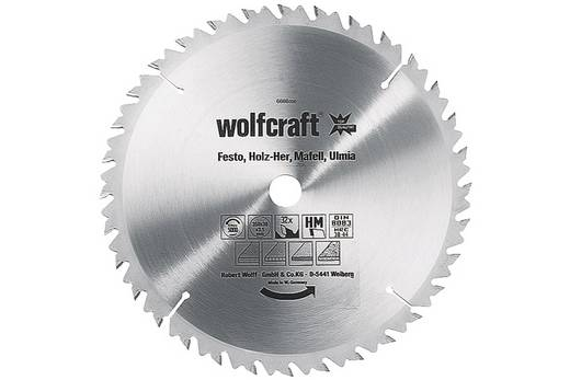 Kreissägeblatt Wolfcraft 6664000 Durchmesser: 315 mm Zähneanzahl: 28 Dicke:3.2 mm Sägeblatt