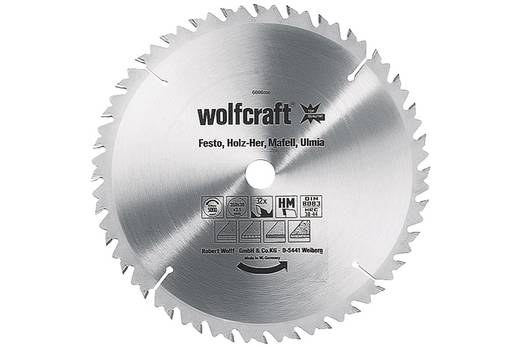 Kreissägeblatt Wolfcraft 6668000 Durchmesser: 400 mm Zähneanzahl: 36 Dicke:3.5 mm Sägeblatt