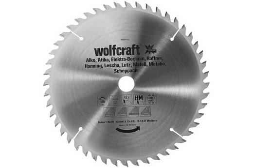 Kreissägeblatt Wolfcraft 6686000 Durchmesser: 350 mm Sägeblatt