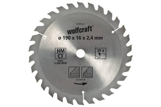 Hartmetall Kreissägeblatt 190 Zähneanzahl: 30 Wolfcraft 6736000 1 St.