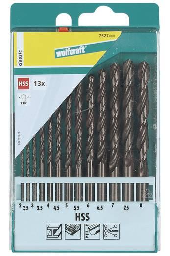 HSS Metall-Spiralbohrer-Set 13teilig Wolfcraft 7527000 N/A Zylinderschaft 1 Set