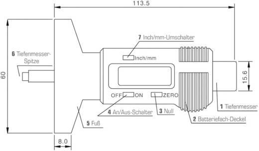 Reifenprofilmesser digital Messbereich Tiefe 25.4 mm (max) DINO 130005