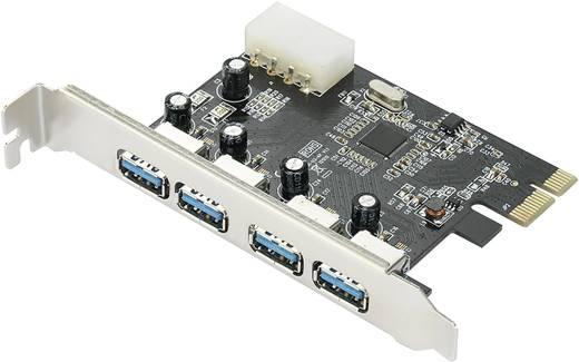 4 Port USB 3.0-Controllerkarte USB-A PCIe 4 Portar USB 3.0 PCI-Express