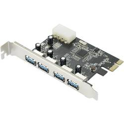 PCIe kontrolná karta USB 3.0 Renkforce RF-4821054, 4 porty