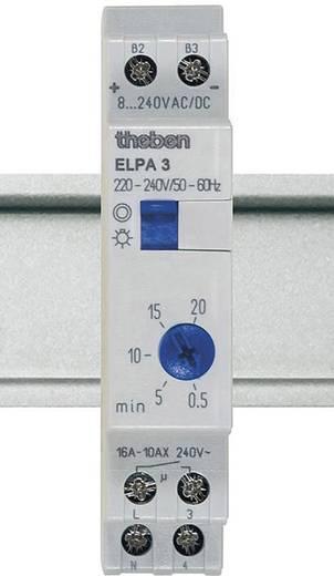 Treppenlichtzeitschalter Hutschiene 8 V DC/AC, 12 V DC/AC, 24 V DC/AC, 110 V DC/AC, 230 V DC/AC Theben 30002