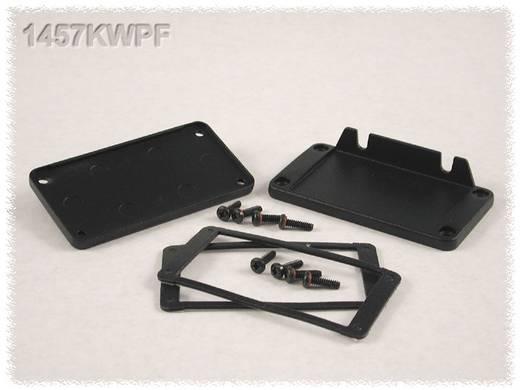 Endplatte mit Flansch (L x B x H) 12 x 84 x 44 mm Aluminium Schwarz Hammond Electronics 1457KWPF 1 St.