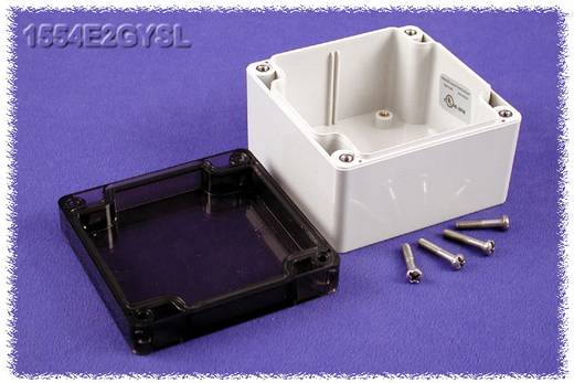 Universal-Gehäuse 90 x 90 x 60 Polycarbonat Grau Hammond Electronics 1554E2GYSL 1 St.