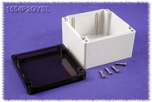 Universal-Gehäuse 120 x 120 x 80 Polycarbonat Grau Hammond Electronics 1554P2GYSL 1 St.