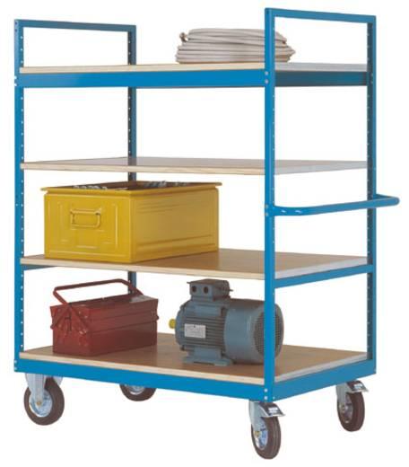 Regalwagen Stahl pulverbeschichtet Traglast (max.): 500 kg Wasserblau Manuflex TV3053.5021