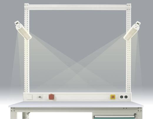 ZB3546 Seiten-Langfeldleuchte 1 x 36W mit verspiegeltem Parabolraster, 230 V / 50 Hz BxTxH 490x90x105 mm +Montageanleitung mit EVG