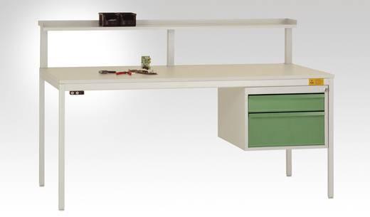 Manuflex LC4742.0002 Komplett Gehäuse 300 für CANTO-Tisch, mit 2 Schubfächer,1 x 100, 1 x 200 Korpus: 7035 lichtgrau leitfähig Schubfächer: 5007 brillantblau leitfähig