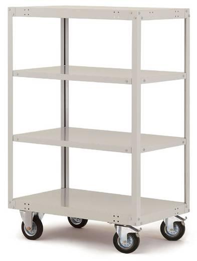 Regalwagen Stahl pulverbeschichtet Traglast (max.): 200 kg Alusilber Manuflex TT4181.9006
