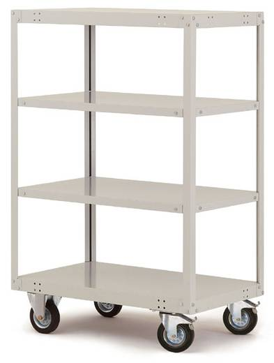 Regalwagen Stahl pulverbeschichtet Traglast (max.): 200 kg Licht-Grau Manuflex TT4191.7035
