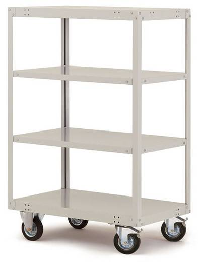 Regalwagen Stahl pulverbeschichtet Traglast (max.): 200 kg Resedagrün Manuflex TT4141.6011