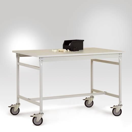 Manuflex LB4016.7035 Beistelltisch BASIS mobil leitfähig 1000x 600x856 mm, Tischpl.Kunststoff lichtgr.leitf. 28mm Ableit