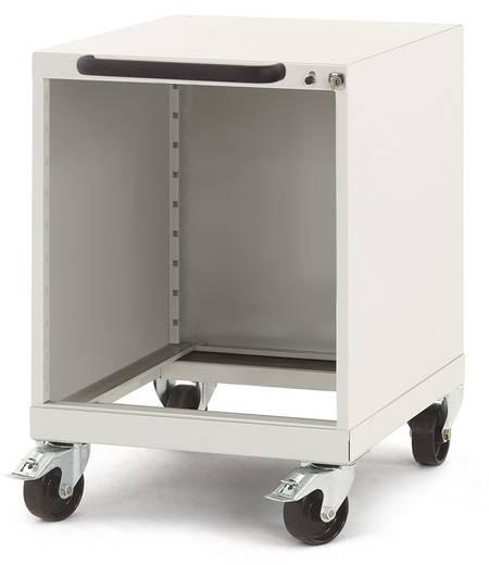 Manuflex SP0016.0001 Schubfachschrank PROTEC mobil mit Einzelauszugssperre und Schubfachsicherung ohne Schubfächer 500 mm Ausstattungshöhe BxTxH=500x580x720 mm graugrün